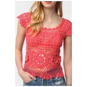 PINS AND NEEDLES CROCHET TOP